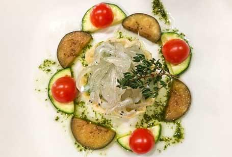 生白魚のパート仕立と春野菜のコントルノ
